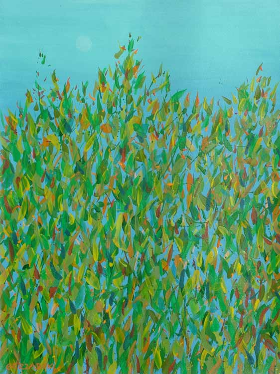 eucalyptus leaves semi-abstract contemporary painting