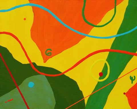 just for fun painting Matisse inspired abstract landscape