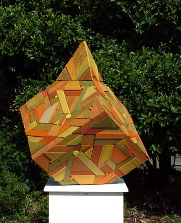 timber cube sculpture variation sculptor gerzabek