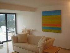 abstract painting contemporary living room