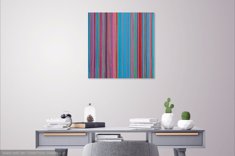 multi shift acrylic geometric pattern original contemporary painting on wall