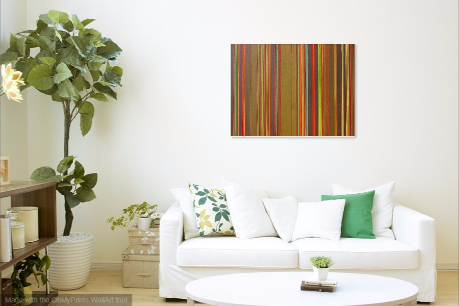 earth colours minimalist abstract painting on wall