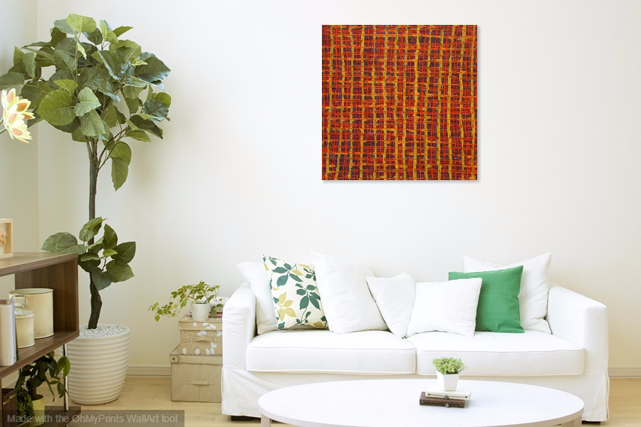 enmeshed abstract patterns original contemporary art painting hung on wall