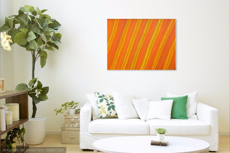 my desert garden contemporary original abstract painting on wall
