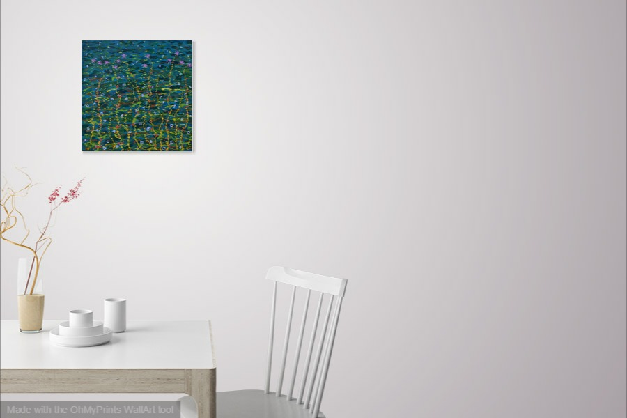 ocean deep abstract seascape painting on wall